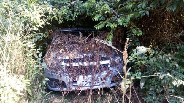 Brigada Militar encontra veículo utilizado na fuga de criminosos que atacaram carro-forte na Serra Brigada Militar / divulgação/divulgação
