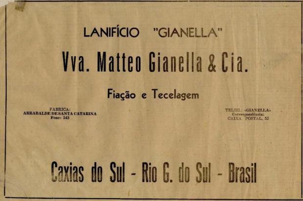 Memória: anúncios na estreia do Pioneiro em 4 de novembro de 1948 Centro de Memória da Câmara de Vereadores de Caxias do Sul/reprodução