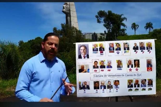 Vereador publica vídeos pedindo apoio contra impeachment do prefeito de Caxias Facebook/Reprodução
