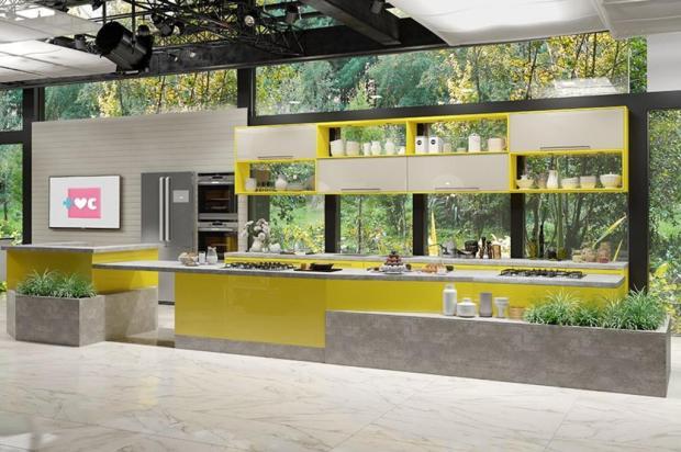"""3por4: Nova cozinha do programa """"Mais Você"""" leva assinatura bento-gonçalvense Dalmóbile/Divulgação"""