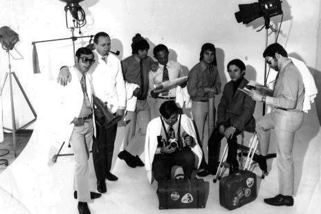 Memória: conjunto musical Itamone em 1972 (Mauro De Blanco/acervo pessoal de Eloy Teixeira,divulgação)