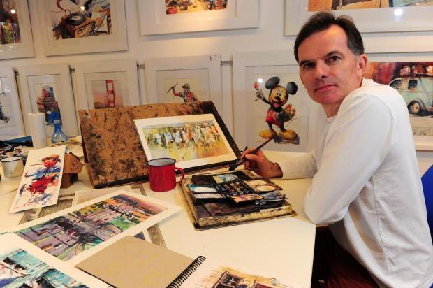 3por4: Caxiense Antonio Giacomin participa de encontro de aquarelistas na China Porthus Junior/Agencia RBS