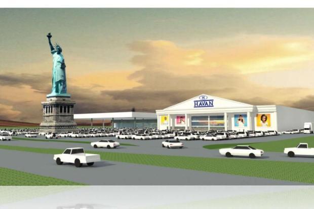 Estátua da Liberdade da loja da Havan em Caxias do Sul custará R$ 1,5 milhão Havan/Divulgação