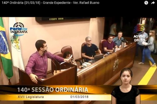 Batalha de vídeos na Câmara de Caxias do Sul Reprodução/Reprodução