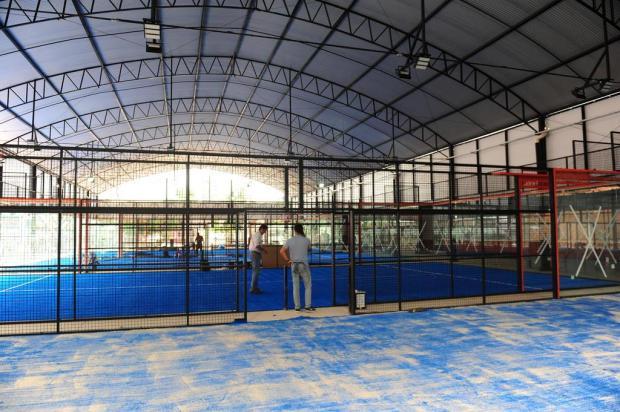 Clube aos amantes de pádel deve ficar pronto em 10 dias em Caxias do Sul Roni Rigon/Agencia RBS