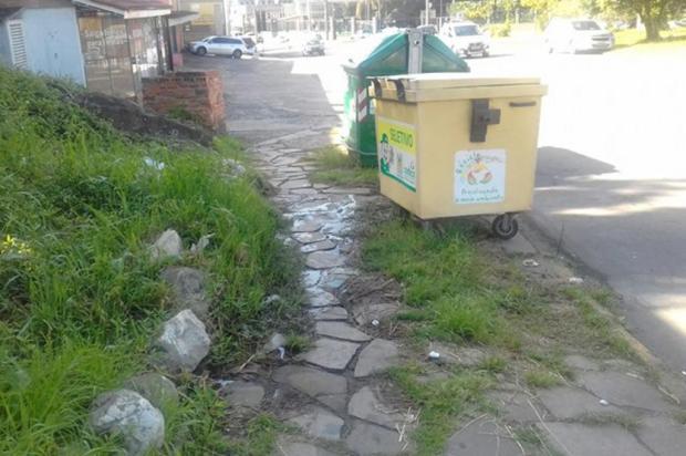 Calçadas na Avenida São Leopoldo estão em péssimo estado Gilmar Pedron Lorenzi/Divulgação