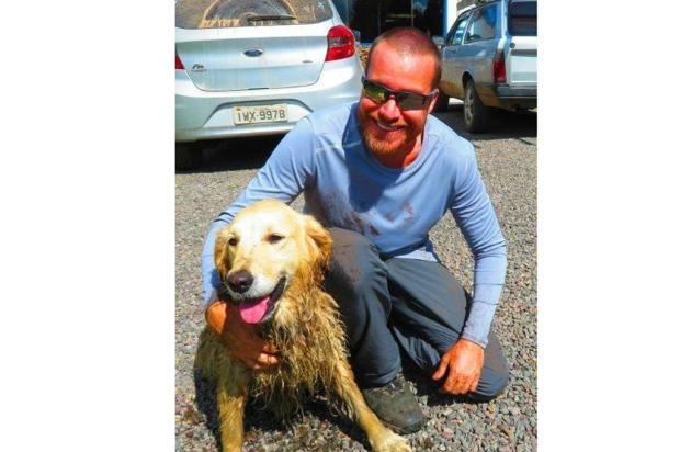 Cachorra é resgatada de rapel após cair em cânion de São José dos Ausentes Acervo pessoal / divulgação/divulgação