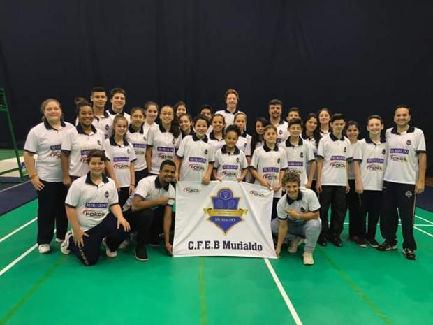 Delegação do Centro de Formação em Badminton Murialdo viaja para primeira etapa do circuito nacional CFEB Murialdo / Divulgação/Divulgação