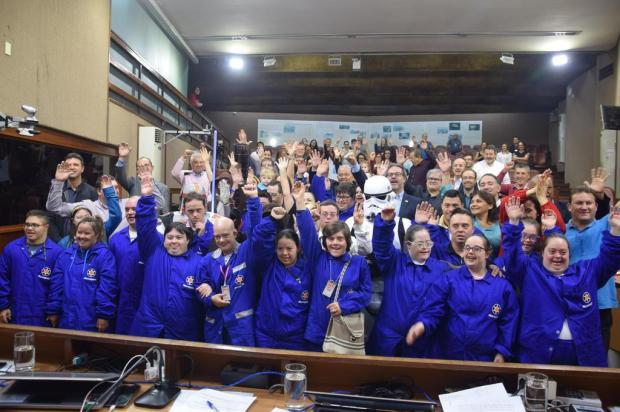 Entidade comemora Dia Internacional da Síndrome de Down na Câmara de Caxias Franciele Masochi Lorenzett/Divulgação