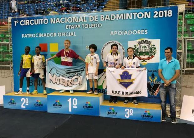 Dupla caxiense conquista medalha na primeira etapa do circuito nacional de badminton CFEB Murialdo / Divulgação/Divulgação
