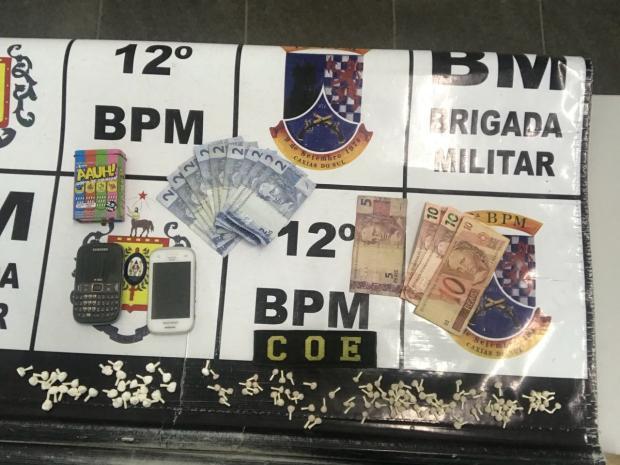 Ação prende homem em conhecido ponto de drogas de Caxias do Sul Brigada Militar / Divulgação/Divulgação