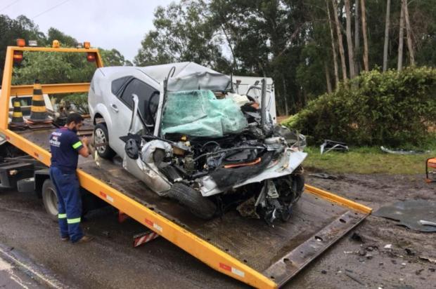 Motorista morre em acidente entre carro e caminhão na ERS-122, em Flores da Cunha Filipe Brogliatto/Grupo Solaris,divulgação