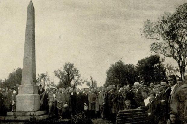 Memória: obelisco do Parque Cinquentenário em 1925 Acervo Arquivo Histórico Municipal João Spadari Adami/divulgação