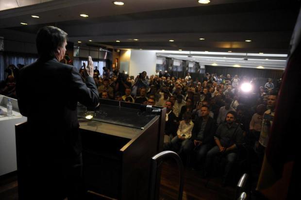 Em Caxias do Sul, Jair Bolsonaro comemora a prisão de Lula Marcelo Casagrande/Agencia RBS