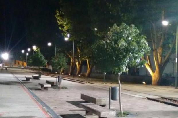 Iluminação pública na Praça do Trem, em Caxias do Sul, é restabelecida Gilnei Bernando/Divulgação