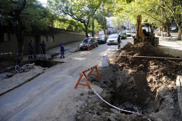 Obras na Rua Dr. Montaury, em Caxias do Sul, deverão se estender por 10 dias Marcelo Casagrande/Agencia RBS