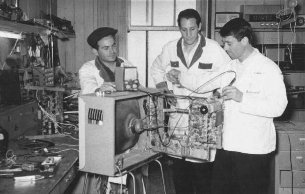 Memória: eletrônica de Olímpio Paganin em 1968 Acervo de família / divulgação/divulgação