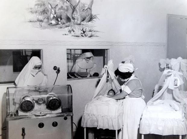 Memória: berçário do Hospital Pompéia nos anos 1960 Mauro de Blanco, acervo Hospital Pompéia / divulgação/divulgação