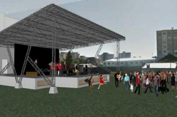 Duas cidades da Serra iniciam obras de palcos em áreas públicas Ilustração/Secretaria de Planejamento de Farroupilha