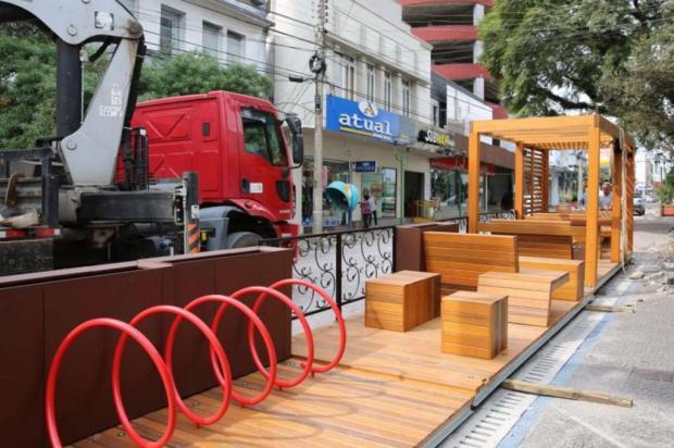 Instalação de mini praças deve ser finalizada neste mês em Farroupilha Adroir Silva/Divulgação