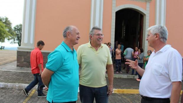 Felipão visita Santuário de Caravaggio em Farroupilha Santuário de Caravaggio  / Divulgação /Divulgação