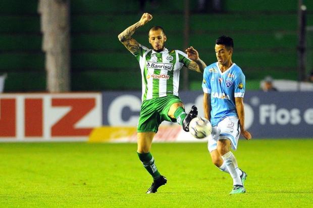Jogadores do Juventude lamentam o empate, mas comemoram reação Felipe Nyland/Agencia RBS