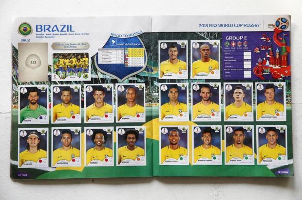 Depois das convocações: confira os primeiros erros no álbum da Copa do Mundo Félix Zucco/Agencia RBS