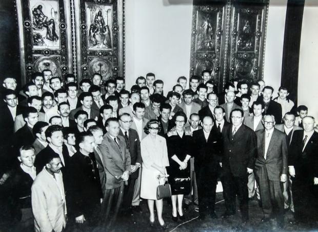 Memória: exposição das portas de bronze na Maesa em 1959 Acervo pessoal de Alvis Santos Fiedler / divulgação/divulgação