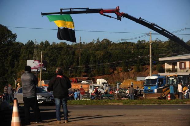 Em Forqueta, cerca de 300 caminhões estão parados Lucas Amorelli/Agencia RBS