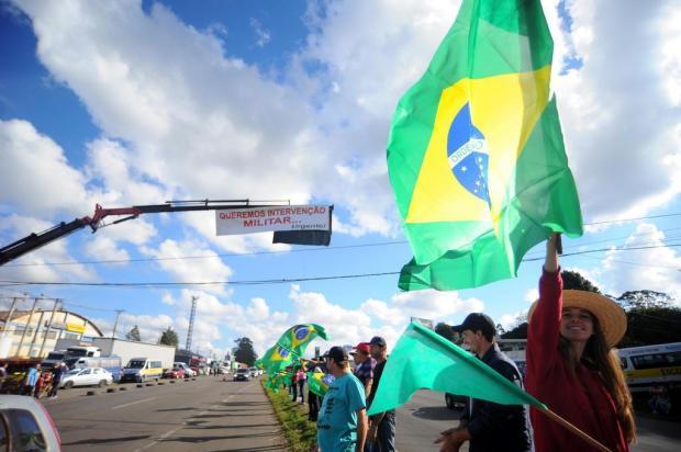 Manifestações de caminhoneiros ocorrem em 22 pontos das rodovias da Serra Felipe Nyland/Agencia RBS