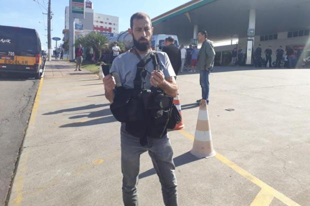 Fotógrafo do Pioneiro é agredido durante cobertura da greve dos caminhoneiros Ivanete Marzzaro/Agência RBS