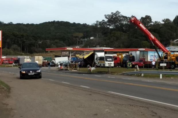 Grevistas deixam bloqueio na ERS-122, em Caxias do Sul  Grupo Rodoviário da Brigada Militar / Divulgação/Divulgação