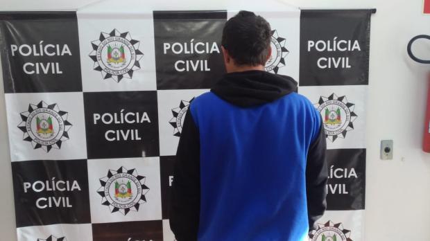 Homem é preso por tentativa de homicídio em Farroupilha Polícia Civil / Divulgação /Divulgação