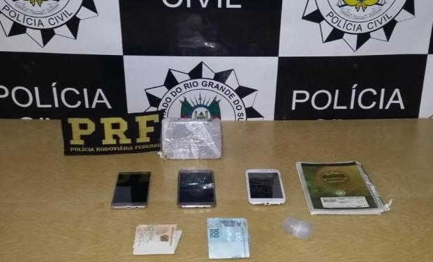 Operação Anjos da Lei prende duas pessoas por tráfico no entorno de escolas em Vacaria PRF / Divulgação/Divulgação