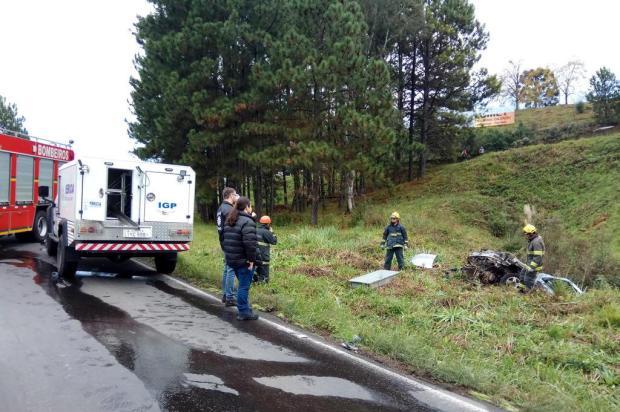 Homem morre em acidente ao sair da pista no Viaduto Torto da ERS-122, em Caxias Lucas Demeda/Agência RBS