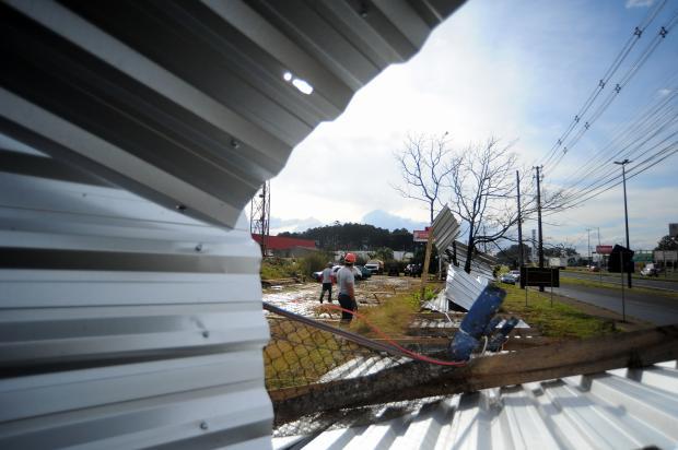 Temporais provocam destelhamentos, queda de árvores e bloqueio de rodovias na Serra Felipe Nyland / Agência RBS/Agência RBS