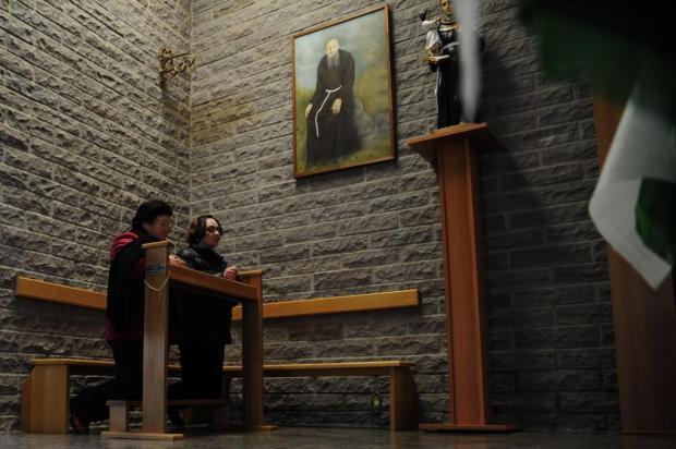 Fiéis comemoram inicio de processo para beatificação de Frei Salvador, em Flores da Cunha Marcelo Casagrande/Agencia RBS