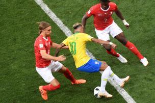 Intervalo: Brasil tem atuação de altos e baixos na Copa do Mundo da efetividade KHALED DESOUKI/AFP