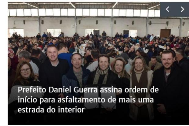 Irmã do prefeito de Caxias e pré-candidata a deputada ganha exposição no site da prefeitura Site Prefeitura de Caxias do Sul/Reprodução