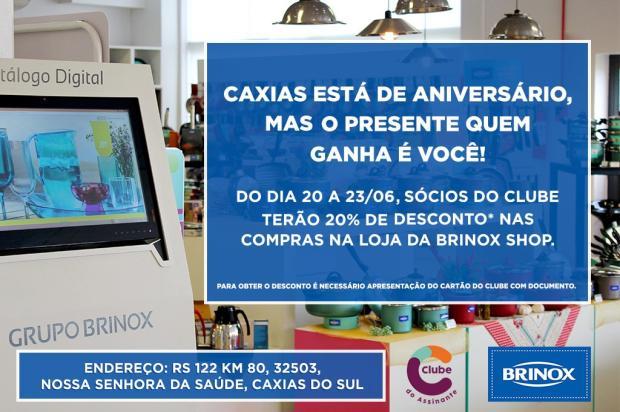 Sócios do Clube do Assinante têm 20% de desconto em produtos da Brinox Shop Pioneiro/