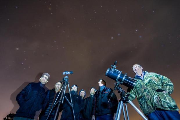 Voluntários dos Campos de Cima da Serra querem popularizar estudos sobre estrelas e planetas Felipe Nyland/Agencia RBS
