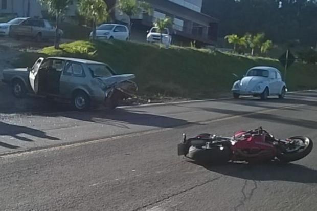 Motociclista morre em colisão envolvendo carro na ERS-122, em Antônio Prado Grupo Rodoviário de Farroupilha/divulgação