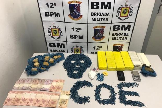 Brigada Militar realiza apreensão de drogas no bairro Charqueadas, em Caxias do Sul Brigada Militar/Divulgação