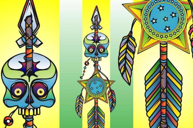 3por4: Artista caxiense assina ilustrações em nova linha de pranchas de Gabriel O Pensador Studio Flop/Divulgação