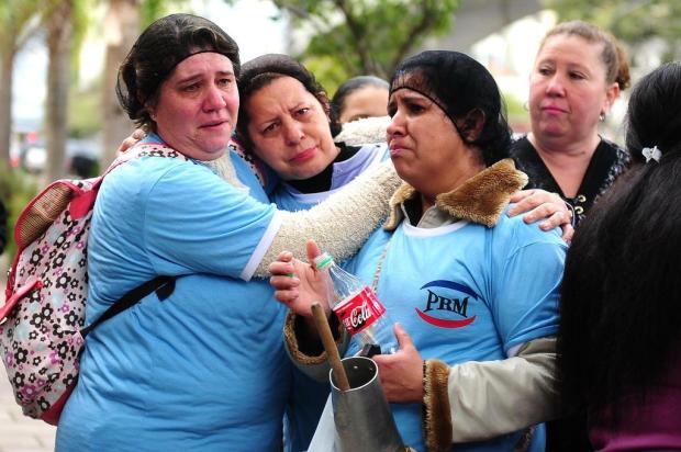 Merendeiras protestam contra mudança em benefício de alimentação em Caxias Diogo Sallaberry/Agencia RBS