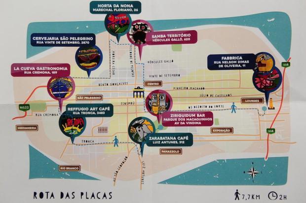 3por4: Artista Vivi Pasqual distribui obras por Caxias no projeto Rota das Placas Reprodução/Reprodução