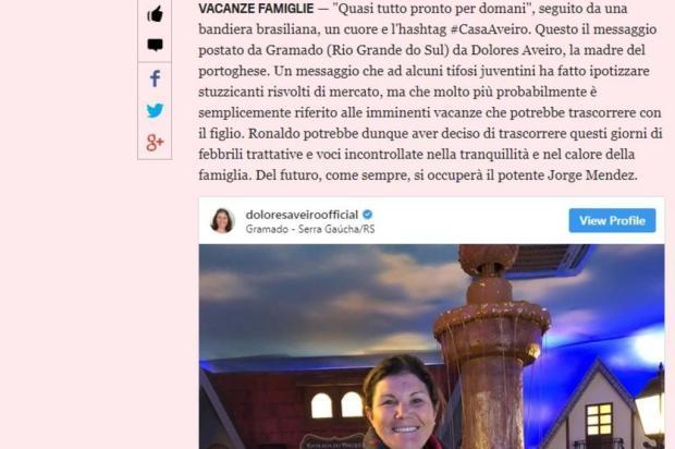 3por4: Jornal italiano especula sobre possível vinda de Cristiano Ronaldo à Serra Reprodução/reprodução
