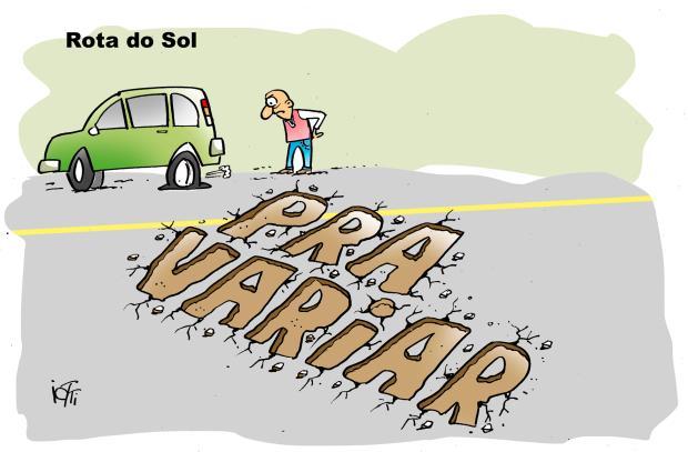 Iotti: as condições das nossas estradas Iotti / Agência RBS /Agência RBS