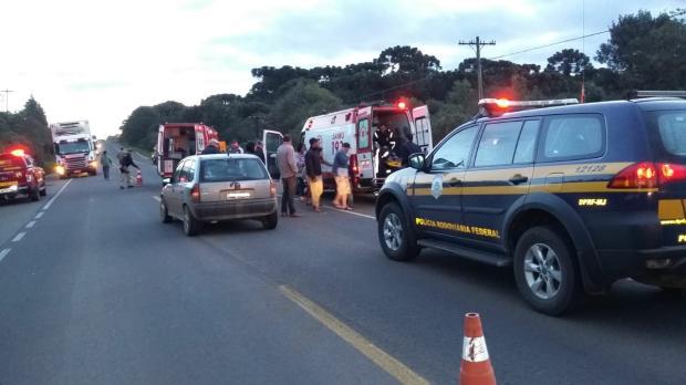 Menino de 12 anos é atropelado em Vacaria, mas não corre risco de morte Polícia Rodoviária Federal / divulgação/divulgação