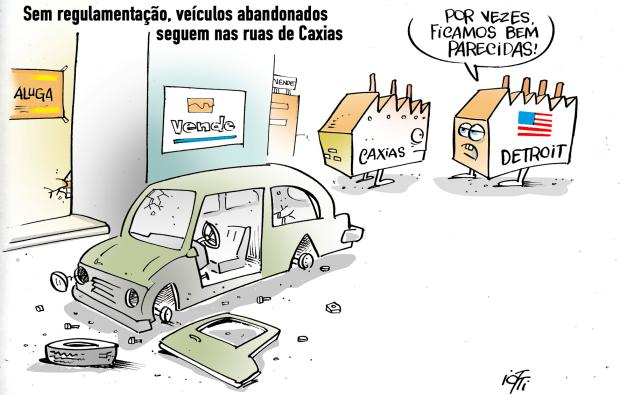 Iotti: carros abandonados em Caxias Iotti / Agência RBS /Agência RBS